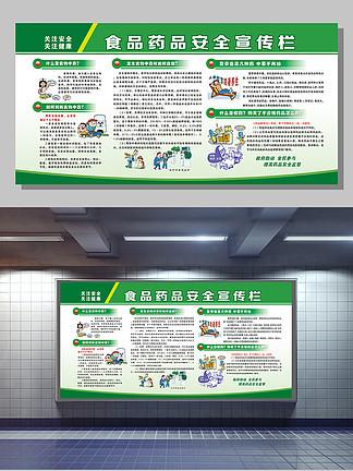 食品药品安全管理宣传栏模版