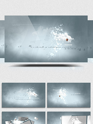 动态艺术效果AE视频展示模板