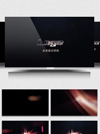 炫美星光特效的电影标志入场动画AE模板