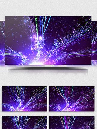 4K紫色粒子光斑光带特效背景led