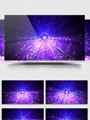 4K紫色粒子脑洞动感绚丽舞台led背景