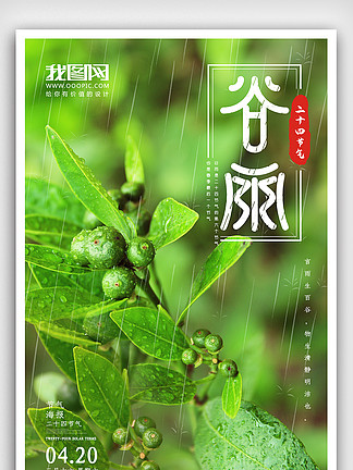 二十四节气<i>谷</i><i>雨</i><i>海</i><i>报</i>设计