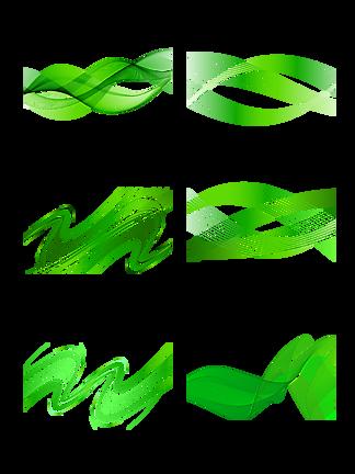 绿色线条飘带流动时尚阳光干净<i>素</i><i>材</i>