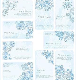 欧式花纹花朵花卡 名片卡片图片
