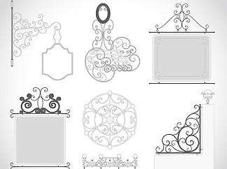 欧式铁艺花纹花艺装饰设计图片