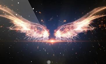 天使翅膀光效背景視頻圖片