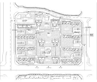 商业街cad平面图