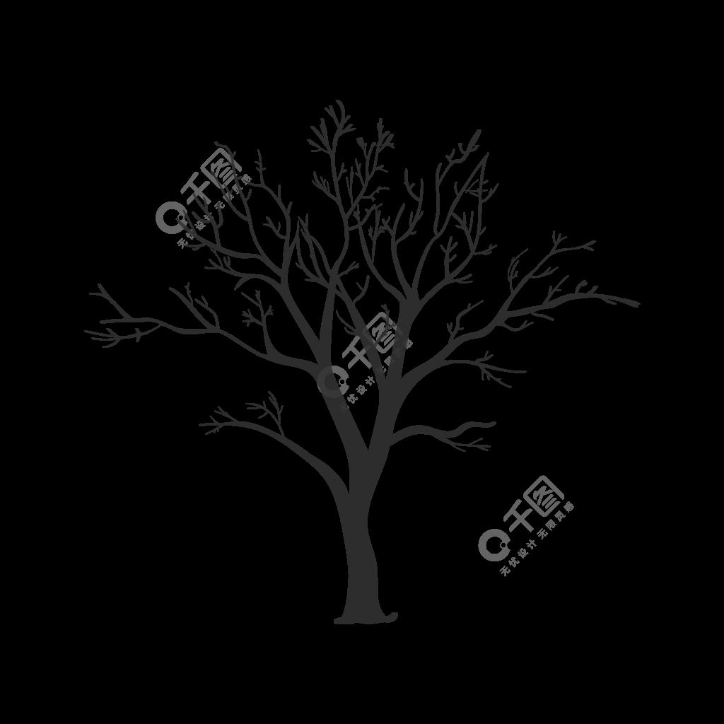 幽灵般的枯树枝向量模板免费下载 ai格式 2000像素 编号15567530 千图网