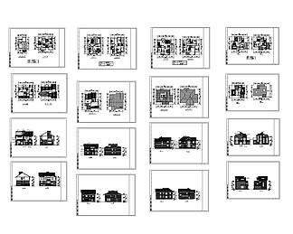 乡村住宅CAD<i>图</i>纸