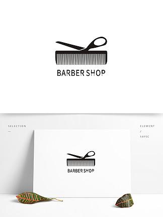 剪发理发门头logo设计图片