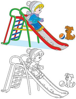 儿童画 卡通画 剪纸画图片矢量图免费下载 ai格式 编号11407934 千图网