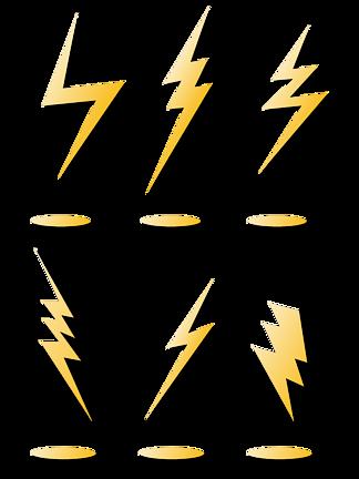 閃電標簽<i>素</i><i>材</i><i>圖</i><i>片</i>