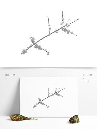 漂亮的挑花、梅花、盛开花朵的树枝photoshop笔刷下载