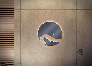 木紋墻壁<i>logo</i>樣機展示