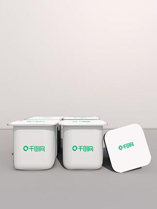 四联包奶制品塑料包装展示样机