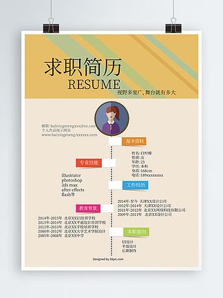 个人简历求职找工作简历创意设计
