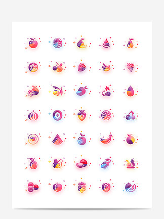 UI水果图标icon