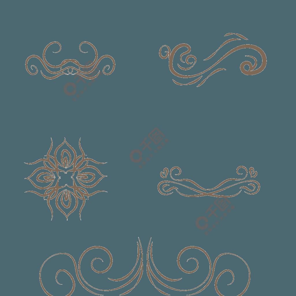 多种灰色欧式花纹花边装饰矢量素材