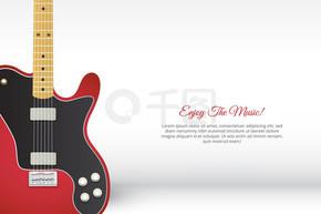 手绘创意电吉他背景