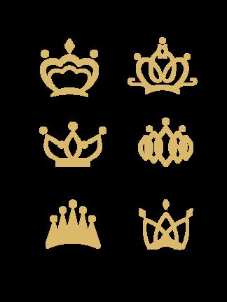 扁平金色皇冠<i>圖</i>標免摳png透明<i>圖</i>層<i>素</i><i>材</i>