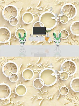 现代淡雅米色白色花纹底纹背景墙