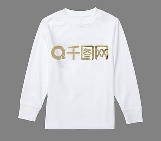 秋季服装秋装Tshirt白色长袖服装样机