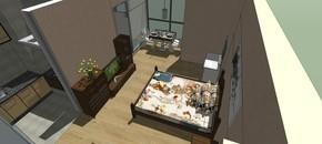 室内设计家装卧室skp模型下载