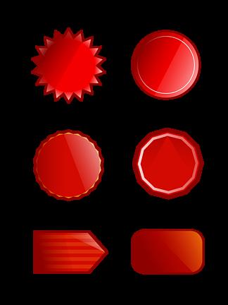 红色圆形<i>淘</i><i>宝</i>双十一促销标签元素素材