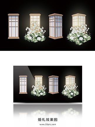 路引灯中式宫灯婚礼效果图素日式灯