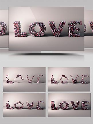 创意颗粒动感汇聚组成LOVE