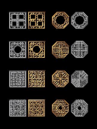 中國風古典窗戶<i>花</i><i>紋</i>PNG素材