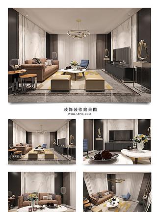 簡約客廳灰色窗簾裝修室內<i>效</i><i>果</i><i>圖</i>