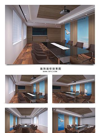 会议室工装效果图