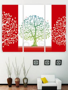 树无框画三联装饰画