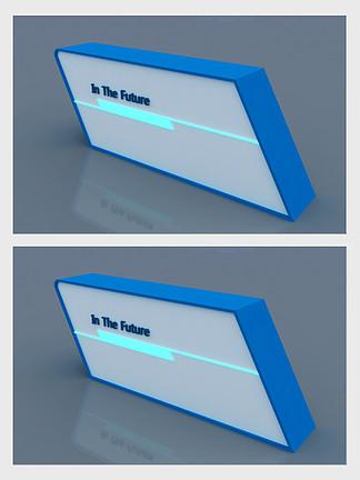 蓝色创建接待台3d模型