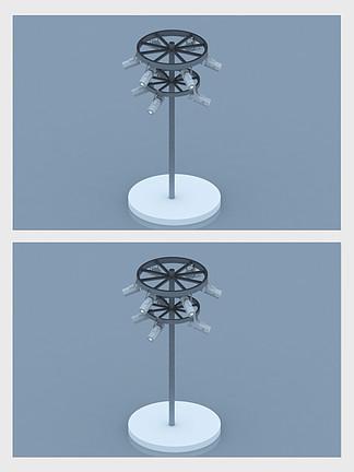展会射灯3d模型