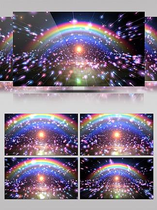 4K动感粒子彩虹雨DJ背景VJ视频