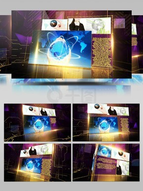网络频道或电视节目的宣传包装设计AE模板