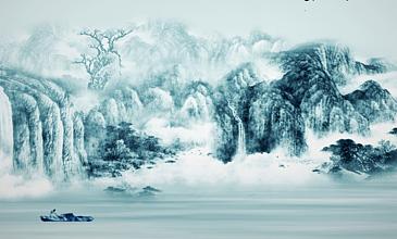 中國風山川河流