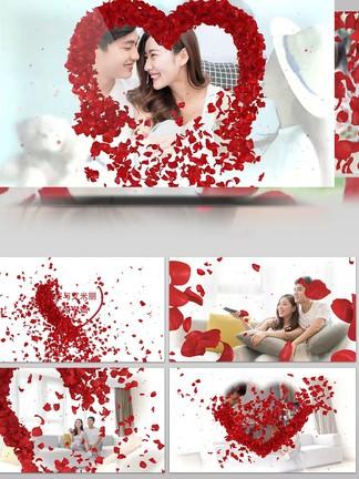 玫瑰<i>婚</i><i>礼</i>爱情相册展示AECC2015模板