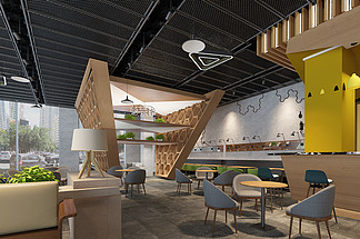 現代餐廳空間<i>效</i><i>果</i><i>圖</i>