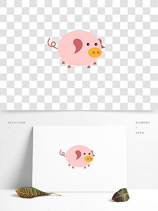 可爱卡通2019生肖猪猪年可商用元素