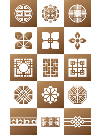 中式<i>花</i><i>紋</i>裝飾圖案