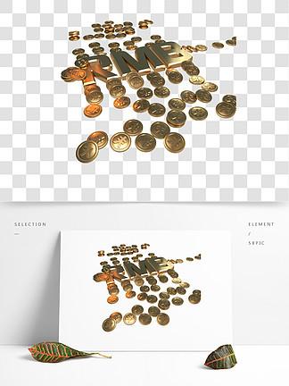 钱商务金币办公硬币3D立体金币rmb