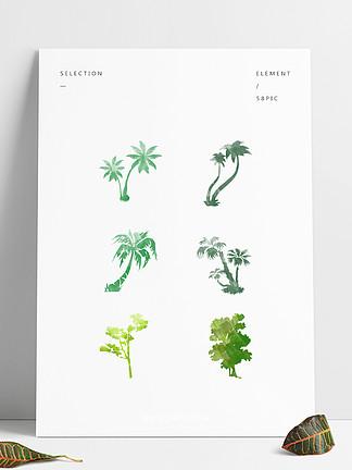 水彩树可商用元素
