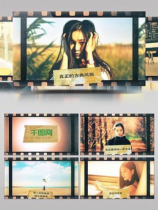 最好的回憶復古電影膠片畫面展示AE模板
