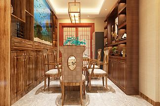 新中式风格<i>餐</i><i>厅</i>室内<i>效</i><i>果</i><i>图</i>