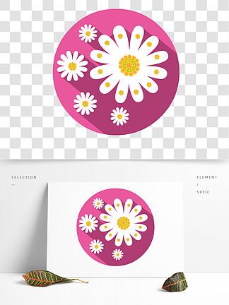手绘花卉菊花图形元素