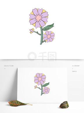 手绘卡通可爱植物花朵花簇?#20185;?#20803;素