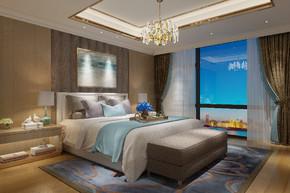 现代风格简约温馨卧室效果图